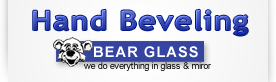 hand beveling glass